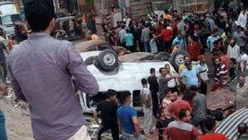 """تفاصيل مصرع وإصابة 8 أشخاص في سقوط """"ميكروباص"""" من أعلى الدائري"""