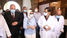 وزيرة الصحة تشيد بمستوى خدمات «حميات قنا» وتوجه بصرف مكافأة للعاملين