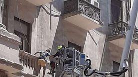 إنقاذ 14 مواطنا من عقار قصر النيل المنهار ونقل اثنين للمستشفى