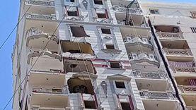 رغم هدم 8 طوابق.. اتساع الميل في عقار الأنفوشي بالإسكندرية