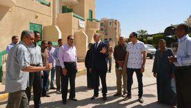 رئيس جامعة الأقصر الجديد يبدأ مهامه بتفقد إسكان الطلاب