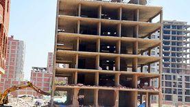 إيقاف أعمال بناء برج مخالف في منطقة شلبي بحي غرب المنيا