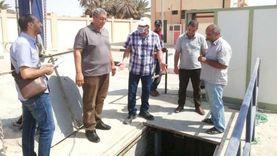 رئيس شركة مياه الشرب والصرف يتابع محطة الرفع بوادي الطور