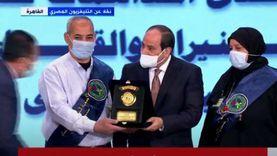 السيسي يُكرم أسرة الشهيد أحمد رضا المدبولي (صور)
