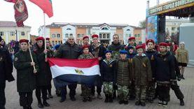 الجالية المصرية في موسكو تحتفل مع الروس بعيد النصر «صور»