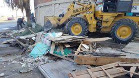 حملة مكبرة لإزالة الإشغالات بالمنطقة الصناعية في دمياط (صور)