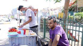 رضا يبيع سندوتشات في شوارع  إمبابة : عايز أبقى قدوة لاخواتي