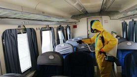تعقيم 700 قطارا و400 منفذ بيع تذاكر بالسكة الحديد لمواجهة كورونا