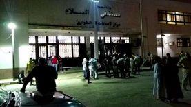 بين حروق واختناق.. مصابو حريق طريق الإسماعيلية بمستشفى السلام العام