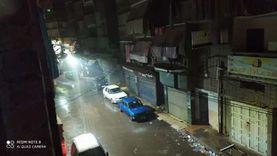 هطول أمطار رعدية على سواحل دمياط وانتظام حركة الميناء