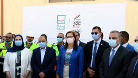 وزيرة التخطيط تفتتح وحدة المعالجة الثلاثية للصرف الصحي بمحافظة سوهاج