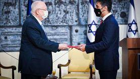 «أعلنها بالعبري».. أول سفير إماراتي يقدم أوراق اعتماده لرئيس إسرائيل
