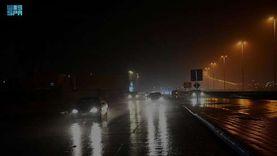 أمطار غزيرة ورعدية تضرب الرياض (صور وفيديو)