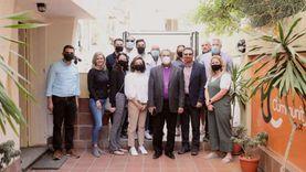 رئيس الإنجيلية يستقبل وفدا أمريكيا إنجيليا بمقر خدمة TC بالقاهرة