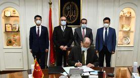 الجزار وسفير مصر في الصين يوقعان عقدا لتشغيل منطقة الأعمال المركزية
