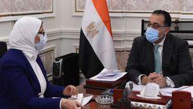 رئيس الوزراء يتابع مع وزيرة الصحة جهود تنفيذ «حياة كريمة»
