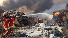 الجيش اللبناني ينتشر بكثافة في محيط ميناء بيروت لتأمين إطفاء الحرائق