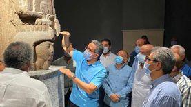 وزير السياحة يتفقد متحف آثار شرم الشيخ