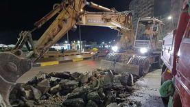 بدء أعمال إصلاح الهبوط الأرضي في المنتزه شرق الإسكندرية