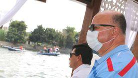 أشرف صبحى ووزيرة التضامن يشهدان فعاليات مهرجان السباحة فى مياه النيل