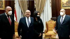 رئيس مجلس الشيوخ يستقبل وزير الخارجية ومايا مرسي