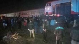 النيابة العامة تنتقل إلى موقع حادث قطار محطة منيا القمح