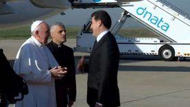 «ترانيم في حب فرنسيس».. العراقيون يستقبلون بابا الفاتيكان بأربيل