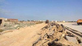 بدء أعمال رفع كفاءة ورصف طريق القرى السياحية بمدينة رأس سدر