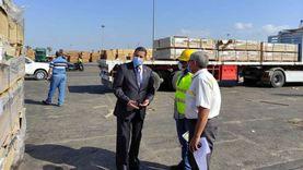 49967 طنا حركة الوارد من البضائع العامة بميناء دمياط