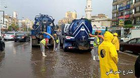 سقوط أمطار غزيرة على الغربية والدفع بسيارات لشفط المياه