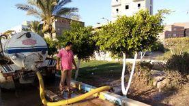 حملة لتطهير وتعقيم الحدائق العامة بعزبة البرج