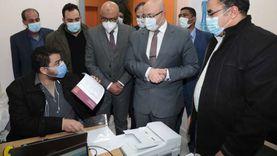محافظ بني سويفيشهد تطعيم كبار السن بلقاح كورونا