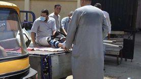 """صور.. مصاب بكسر في قدمه يدلي بصوته على """"تروسيكل"""" بكفر الشيخ"""