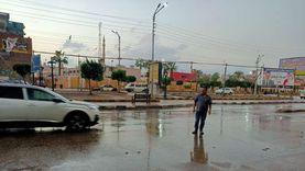 فيديو.. هطول أمطار غزيرة على محافظة الدقهلية