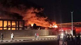 حريق منطقة الاستثمار بالإسماعيلية.. إصابات بالاختناق بين رجال الإطفاء