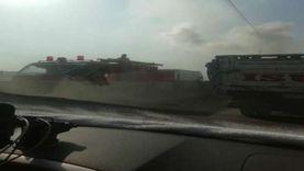 السيطرة على حريق بسيارة أعلى طريق «مسطرد - أبو زعبل» في القليوبية