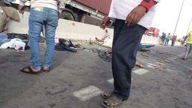 أول صور من حادث الدائري الأوسطي.. مصرع 19 وإصابة 5 في حالات حرجة