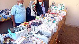 توقيع الكشف الطبي على 1161 حالة بقرية محمد صلاح مجانا ضمن «حياة كريمة»