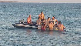 إنقاذ شاب من الغرق بأحد شواطئ مدينة طور سيناء «صور»