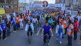 وزير الشباب يشهد تنظيم ماراثون دراجات على محور المحمودية بالإسكندرية