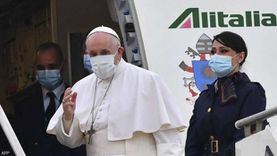 تفاصيل مغادرة بابا الفاتيكان روما ورحلته إلى العراق (صور)