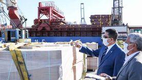 105821 طنا رصيد صومعة الحبوب والغلال للقطاع العام بميناء دمياط