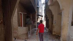 تطهير وتعقيم سوق السمك وشوارع مدينة عزبة البرج بدمياط
