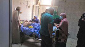 خروج 5 مصابين بحادث قطار بنها من المستشفيات