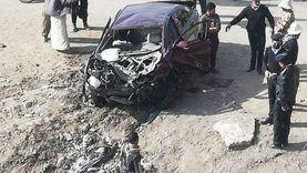 فسحة العيد انتهت بحادث.. إصابة 4 شباب في انقلاب سيارة بالفيوم