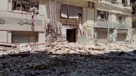 انهيار عقار  بشارع قصر النيل