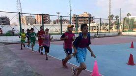 انتهاء فعاليات اختبارات المدرسة الرياضية باستاد بنها