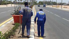 حملة نظافة مكبرة على طريق السلام بمدينة شرم الشيخ