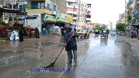 أمطار كثيفة تسقط على غرب الإسكندرية وخفيفة وسط وشرق المدينة