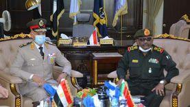 الفريق محمد فريد يلتقي وزير الدفاع ورئيس هيئة الأركان السودانية